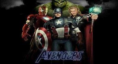 Os Vingadores the avengers heroes com fundo escuro