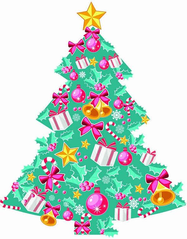 Cenário de mesa ou chão árvore de natal colorida