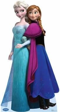 Display de Mesa Frozen Anna e Elsa