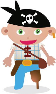 Totens - Displays - Piratas Cartoon