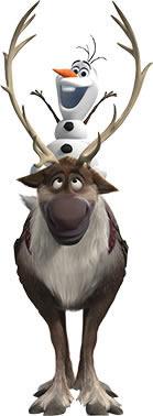 Olaf e Sven para decoração de festa infantil