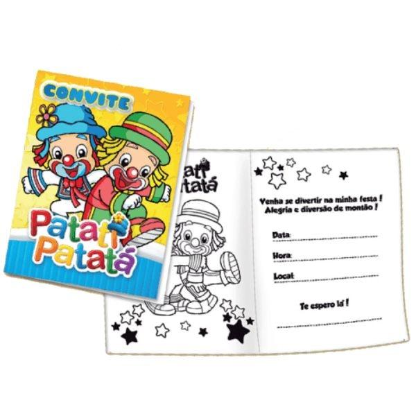 Convites Patati e Patatá - embalagem com 8 unidades | Festcolor