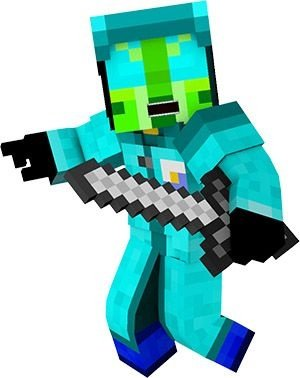 Personagem de chão minecraft