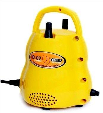 Baloes Inflador Compressor amarelo 2 bicos 220v