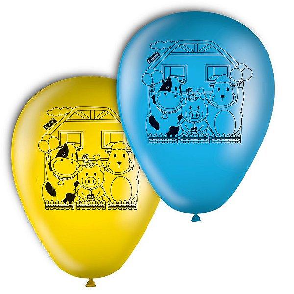Balão de Látex Fazendinha 25 unidades|Festcolor