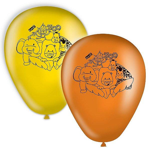 Balão de Látex Zoo 25 unidades|Festcolor