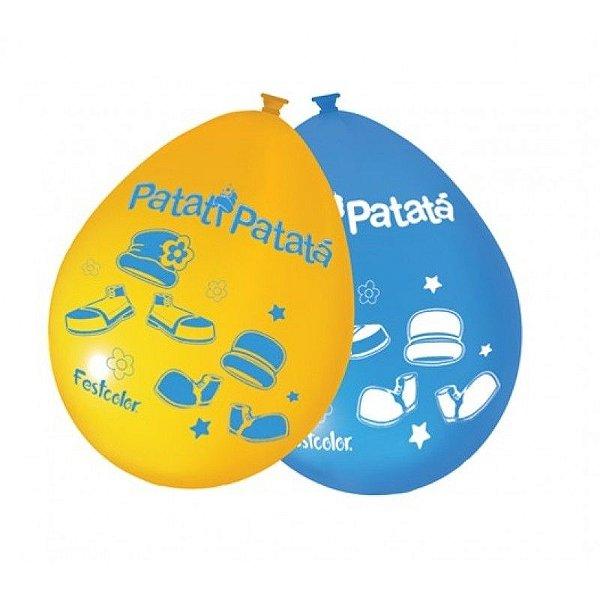 Balão de Látex Patati AM / AZ 25 unidades|Festcolor