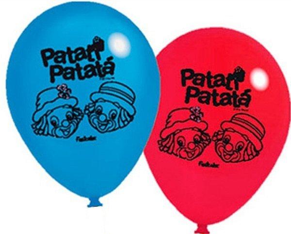 Balão de Látex Patati Patata Vermelho 25 unidades|Happy Day