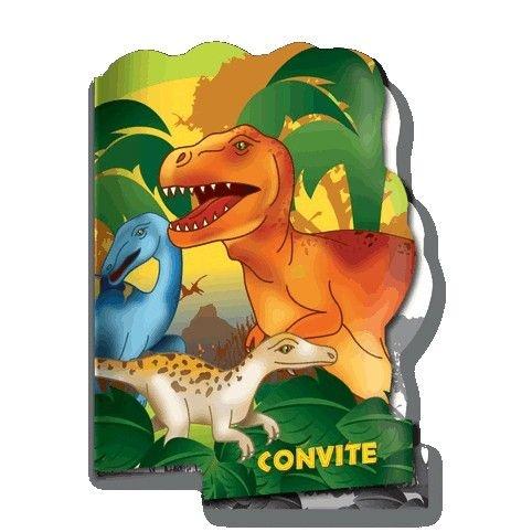 Convite de Aniversário Dino 08 unidades|Festcolor