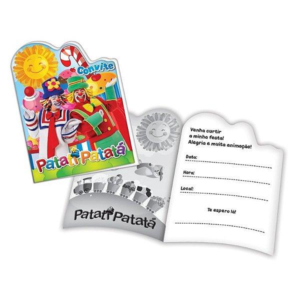 Convite de Aniversário Patati Ptata foto 08 unidades|Festcolor