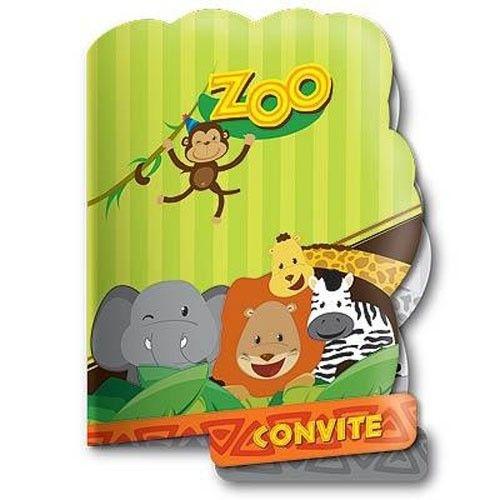 Convite de Aniversário Zoo 08 unidades|Festcolor