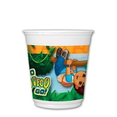 Copo de Plástico Descartável Go Diego Go 08 unidades| Festcolor