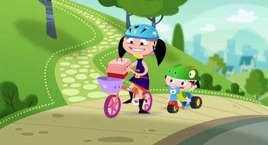 Painel de festa show da luna bicicleta