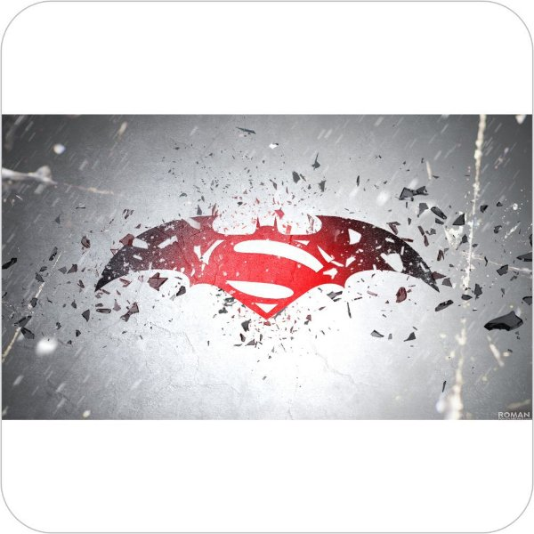Painel de Festa Infantil Batman vs Superman Logo