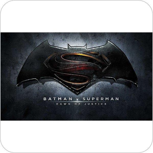 Painel de Festa Infantil Batman vs Superman Logo Escuro