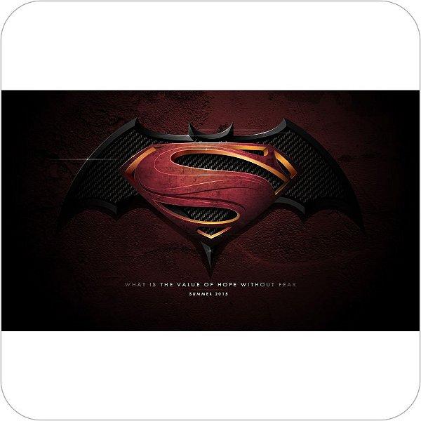 Painel de Festa Infantil Batman vs Superman Logo Vinho