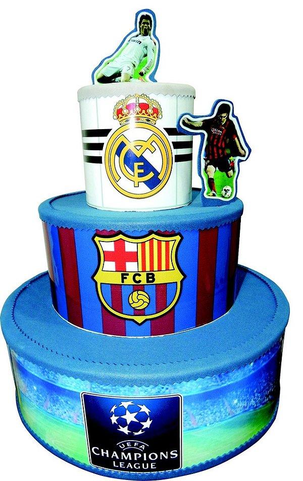 Bolo Cenográfico Times Real Madrid Barcelona