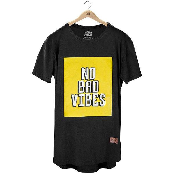 Camiseta Longline No Bad Vibes - Masculina