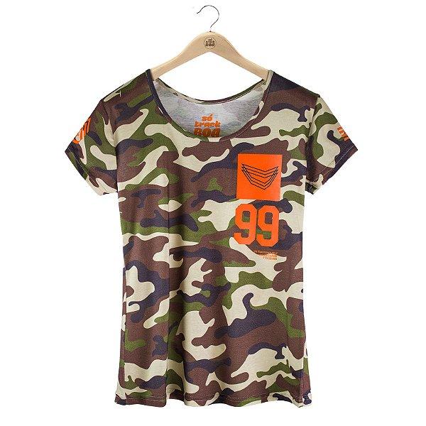 Camiseta Babylook Vintage Culture Army