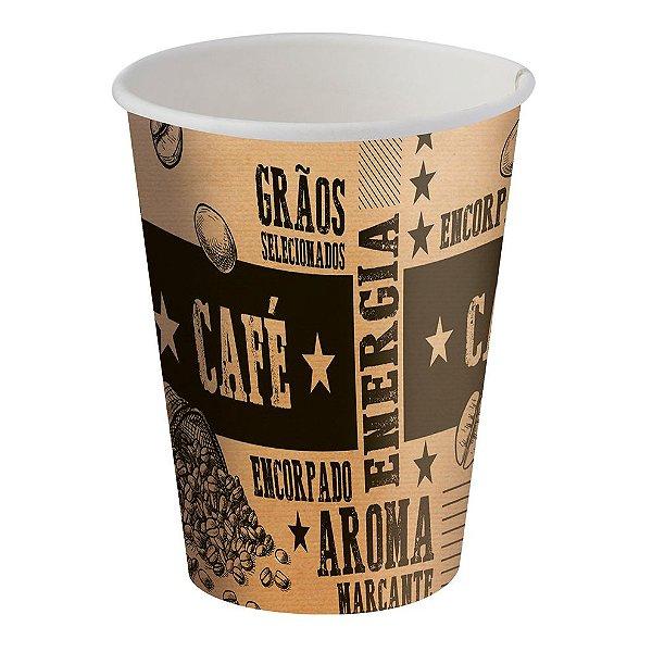 Copo de Papel para Bebidas Quentes e Frias - 200ml - Kraft - 25 Unidades
