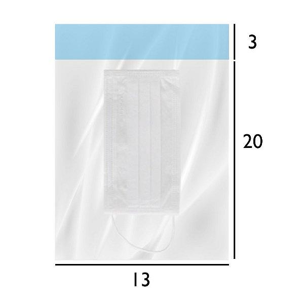 Embalagem para Máscara Respiratória - Saco PEBD Transparente com Aba Inviolável