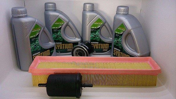 Óleo 10w40 SM Semi Sintético + Kit Filtros Nissan March 1.0 16v