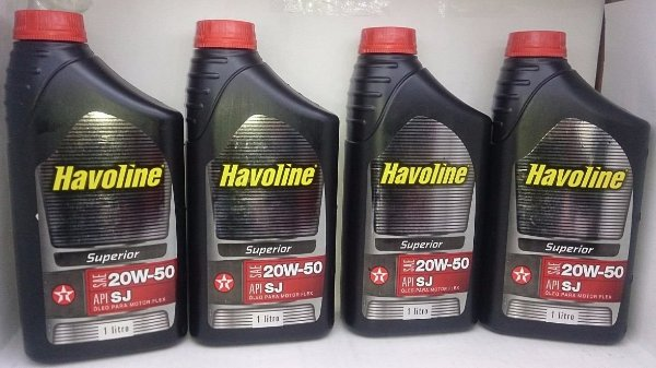 Óleo Havoline 20w50 Sj Superior Kit 4 Litros