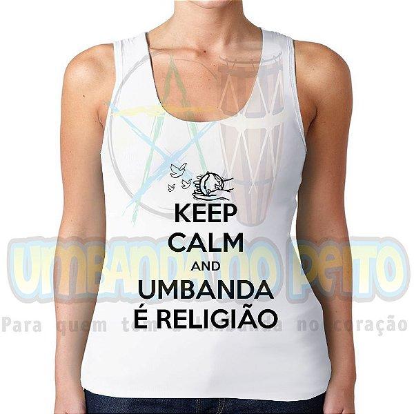 Regatinha Keep Calm and Umbanda é Religião