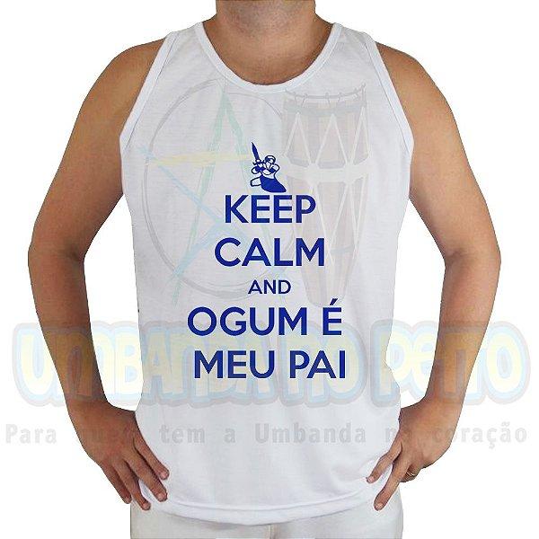 Regata Keep Calm and Ogum é Meu Pai