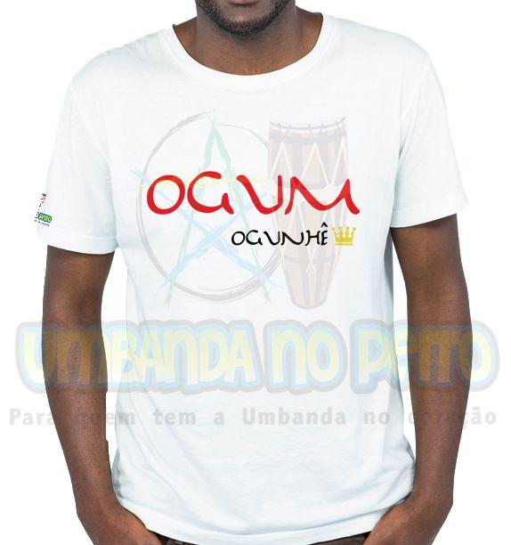 Camiseta Rei Ogum (estampa vermelha)