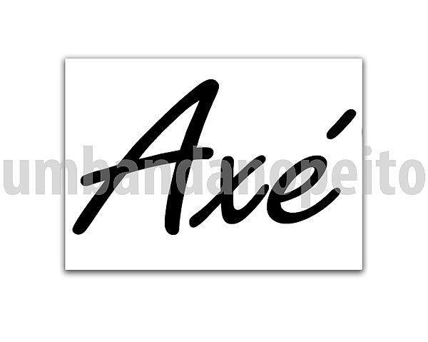 Adesivo Axé