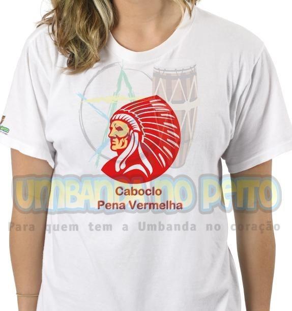 Camiseta Caboclo Pena Vermelha