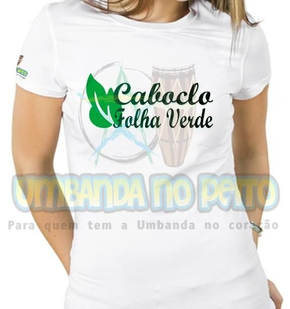 Baby Look Caboclo Folha Verde