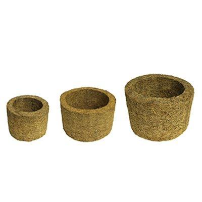 Kit com 3 Unidades de Xaxim de Palmeira - Tamanhos P, M e G