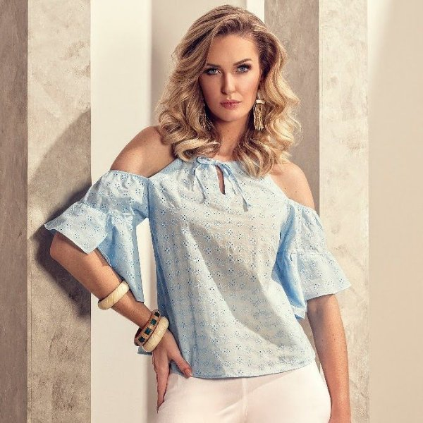 Cropped Lese Azul