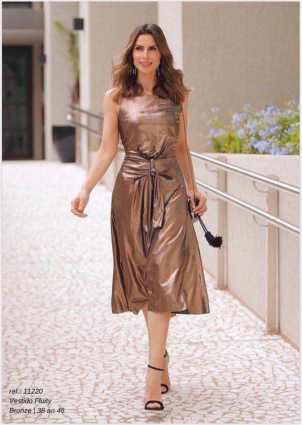 Vestido Fluity Bronze