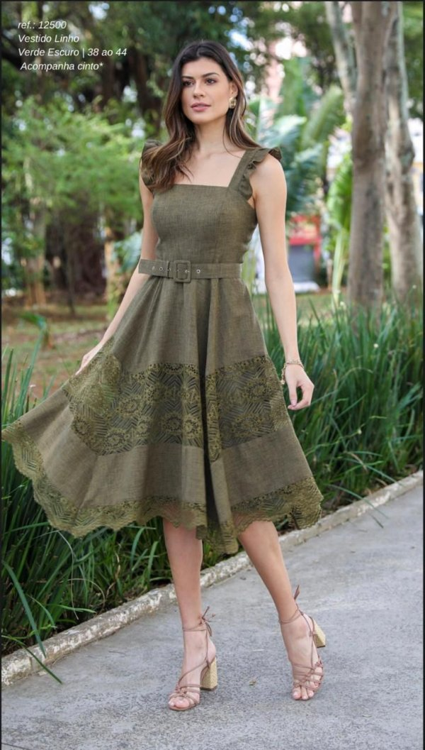 Vestido Linho Detalhes