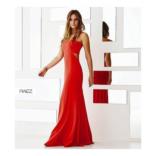 Vestido Crepe Pregas & Recortes
