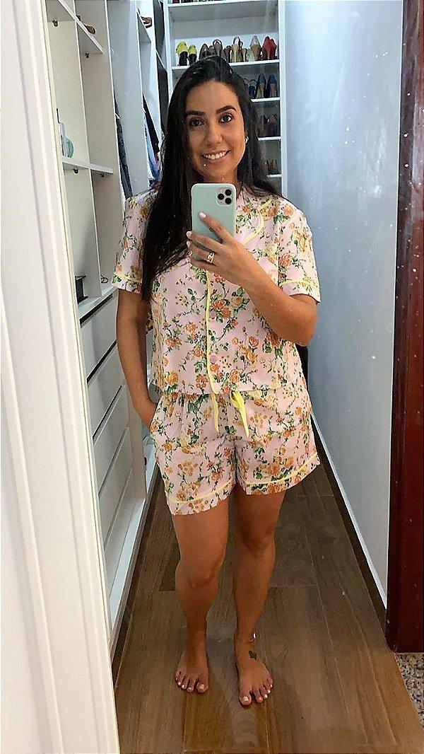Pijama Floral Algodão