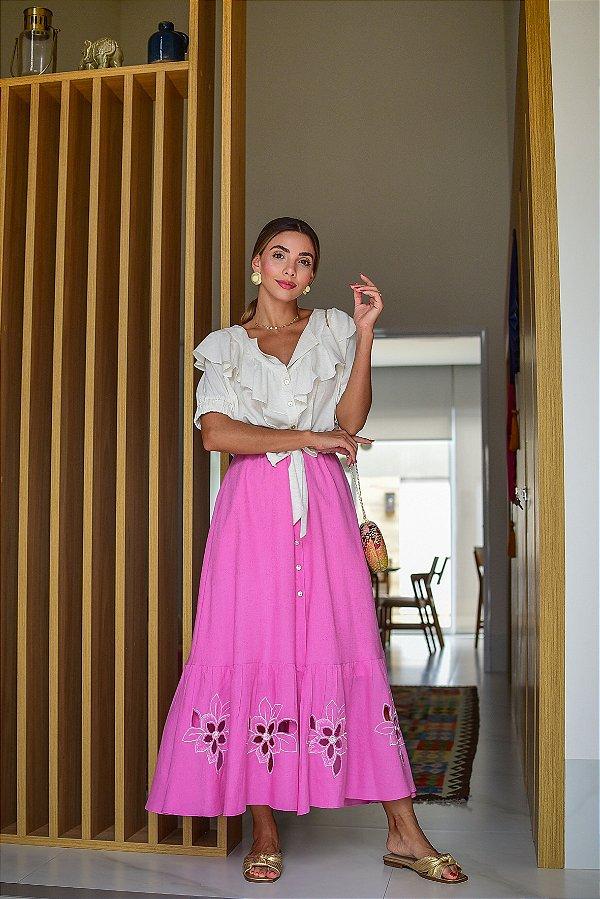 Vestido Linho Modal Detalhes