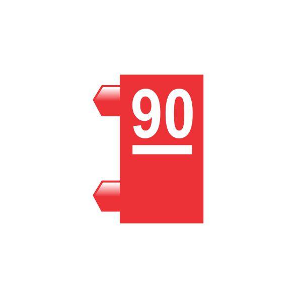"""Peças Avulsas """"90"""" (Vermelho)"""