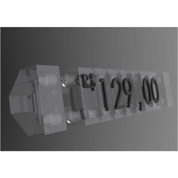 Kit Precificador 510 Peças (Transparente)