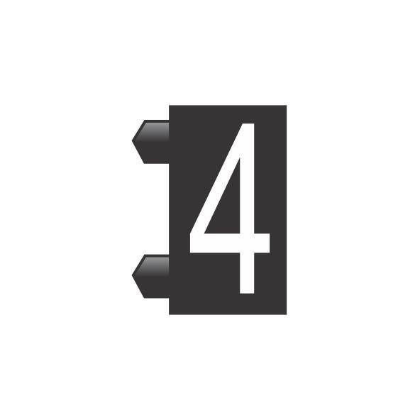 """Peças Avulsas """"4"""" (Preto)"""