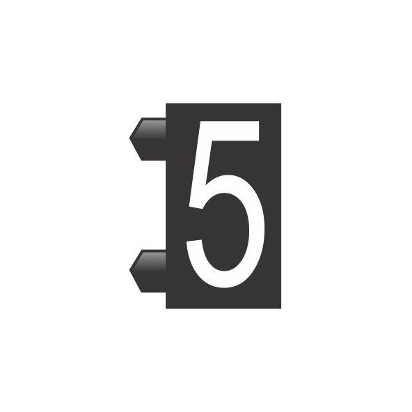 """Peças Avulsas """"5"""" (Preto)"""