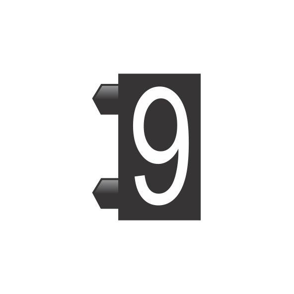 """Peças Avulsas """"9"""" (Preto)"""