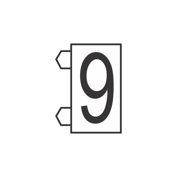 "Peças Avulsas ""9"" (Branco)"
