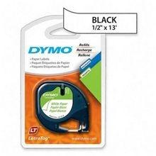 """Fita DYMO 10697 (Preto/Branco c/ 12mm x 4mts) """"blister c/ 2 peças"""""""