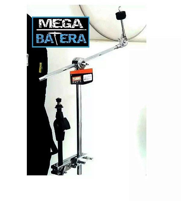 Extensor Girafa De Prato De Bateria + Clamp Holder - Turbo