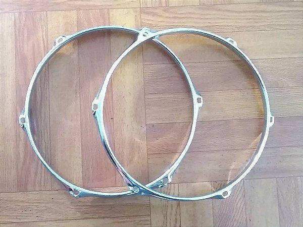 Aro 10 De Tom Pearl De 2,8cm Com 6 Afinações (o Par)