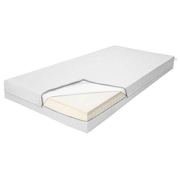 Capa para Colchão Caixa de Ovo, Confeccionada em PVC Branco Fechamento Ziper